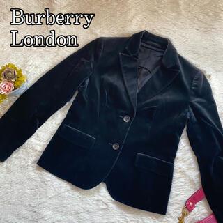 BURBERRY - バーバリーロンドン 大きいサイズ ベロア テーラードジャケット レディース 42