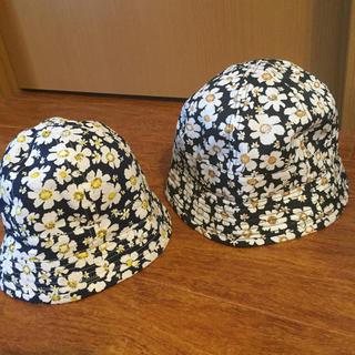 サマンサモスモス(SM2)のスーランスクラッタ 花柄 親子ペアハット 帽子 SM2 おそろコーデ 新品(帽子)