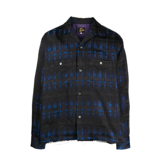 Needles - 〈新品〉Needles キャンプカラーチェックシャツ 黒 青