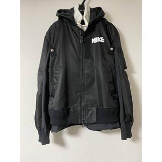 sacai - sacai × Nike ブルゾン 黒 Sサイズ サカイ ナイキ ジャケット
