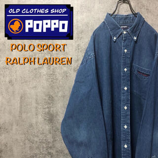 POLO RALPH LAUREN - ポロスポーツラルフローレン☆カナダ製ワンポイント刺繍ロゴポケットデニムシャツ