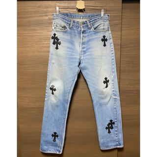 Chrome Hearts - Chrome hearts leather patch denimインディゴ32