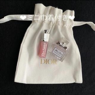 クリスチャンディオール(Christian Dior)のミスディオール  ブルーミングブーケ ミニチュア 5ml マキシマイザー 001(リップグロス)