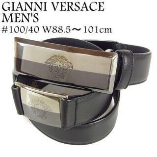 ジャンニヴェルサーチ(Gianni Versace)のジャンニ ヴェルサーチ #100/40 メデューサ バックル レザー ベルト(ベルト)
