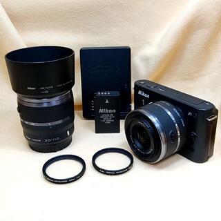 Nikon - ミラーレス Nikon 1 J1 ダブルズームキット ブラック