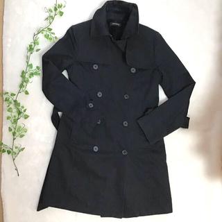 エゴイスト(EGOIST)のEGOIST エゴイスト トレンチコート 黒 BLACKコート Sサイズ(トレンチコート)