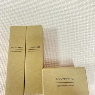 ムジルシリョウヒン(MUJI (無印良品))のMUJI    エイジングケア美容液、✖️2  クリーム 、   3点セット (美容液)