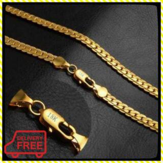 7 喜平ネックレス メンズ 18金 ゴールド 18k 刻印 50cm 18KGF