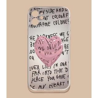 フランフラン(Francfranc)のiPhoneseケース バルーンハート 英字 iPhoneケース ストリート系(iPhoneケース)