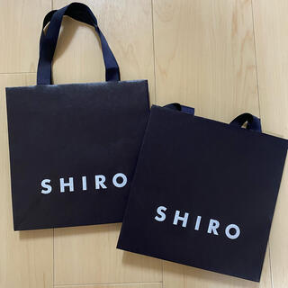 shiro - shiro 紙袋 2枚