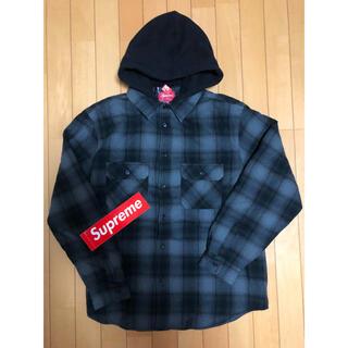 Supreme - Supreme Hooded Flannel Zip Up Shirt黒
