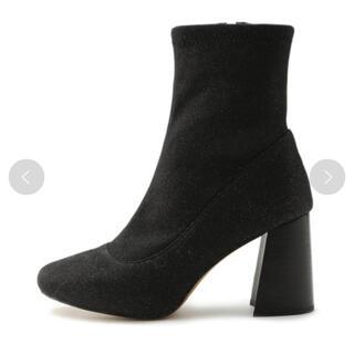 スナイデル(snidel)のスナイデル ミドルストレッチブーツ ブラック 黒 ブーツ ショートブーツ(ブーツ)