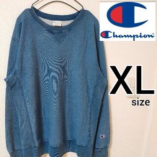 チャンピオン(Champion)のチャンピオン 青 リバースウィーブ スウェットトレーナー メンズ XLサイズ(スウェット)