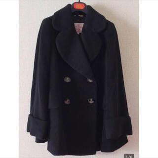 ヴィヴィアンウエストウッド(Vivienne Westwood)のVW♡ダブルラブ襟コート♡美品(ロングコート)