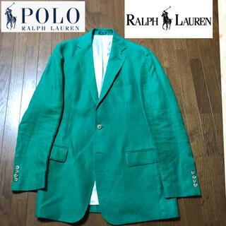 ポロラルフローレン(POLO RALPH LAUREN)のイタリア製 超美品 着用1回 ポロ ラルフローレン リネンジャケット(テーラードジャケット)