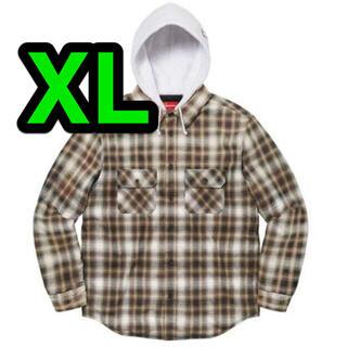 Supreme - supreme Hooded Flannel Zip Up Shirt XL