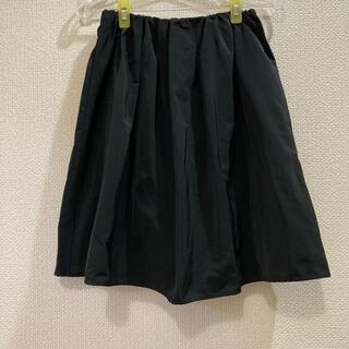 ロペピクニック(Rope' Picnic)の美品 フレアスカート  ロペピクニック ひざ丈スカート  黒(ひざ丈スカート)