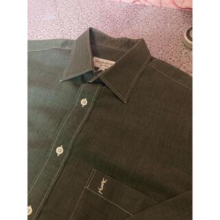 Saint Laurent - [yvessaintlaurent] ダークグレー ドレスシャツ