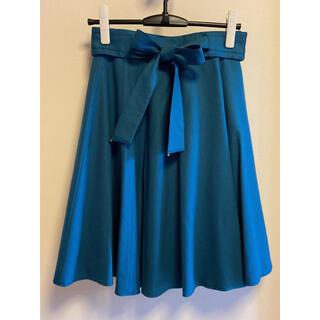 ミッシュマッシュ(MISCH MASCH)のMISCH MASCH リボンベルトフレアースカート(ひざ丈スカート)
