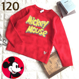 ミッキーマウス(ミッキーマウス)の☸️ 【120】ミッキー ロゴ ニット(ニット)