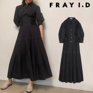 FRAY I.D - fray id ランダムプリーツシャツワンピース ブラック