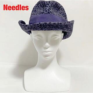 Needles - 【新品】Needles ハット レオパード柄 ラビットファー リボン タグ付き