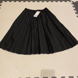 UNIQLO - 新品 タグ付き キッズ ブラック プリーツスカート 140