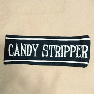 キャンディーストリッパー(Candy Stripper)の新品【Candy Stripper】モノトーン★ブランド英字デザインヘアバンド(ヘアバンド)