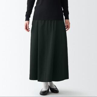 MUJI (無印良品) - 縦横ストレッチチノ フレアースカート
