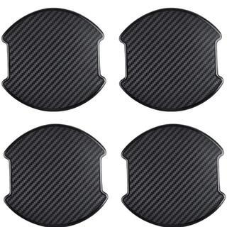 車用 ドアハンドル プロテクター シール カバー 外装 黒い ブラック 4枚入