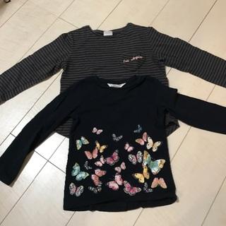 ザラキッズ(ZARA KIDS)の 美品 ZARA H&M 120セット(Tシャツ/カットソー)