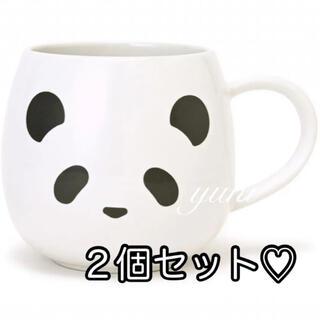 ジェラートピケ(gelato pique)のレア♡ 【GELATO PIQUE CAFE】パンダ マグカップ♡2個セット(グラス/カップ)