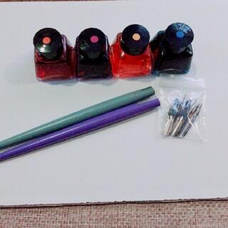 フェリシモ(FELISSIMO)のカリグラフィ カラー インク ペン先 ページ軸 セット(ペン/マーカー)