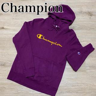チャンピオン(Champion)の古着 Champion プルオーバーパーカー ワンポイント ビッグロゴ 刺繍 (パーカー)