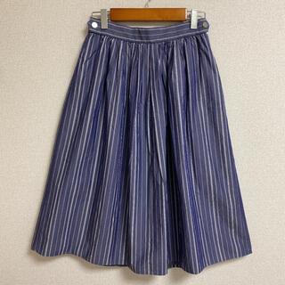 ビューティアンドユースユナイテッドアローズ(BEAUTY&YOUTH UNITED ARROWS)のユナイテッドアローズ ストライプ フレアスカート(ひざ丈スカート)