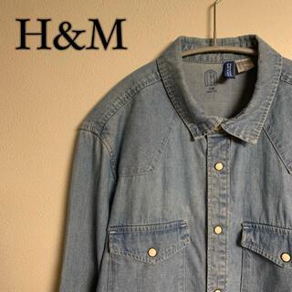 エイチアンドエム(H&M)の【定番】H&M エイチアンドエム デニムウエスタンシャツ(シャツ)