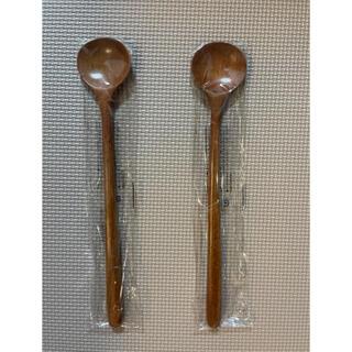 スッカラ 木製 ロングスプーン キッチングッズ カトラリー 2本セット