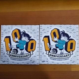 ショウガクカン(小学館)の名探偵コナン100巻アニバーサリー記念ステッカー2枚セット(キャラクターグッズ)