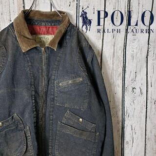 ポロラルフローレン(POLO RALPH LAUREN)の希少 ポロバイラルフローレンデニムジャケット Gジャン ヴィンテージ 80s(Gジャン/デニムジャケット)