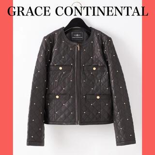 GRACE CONTINENTAL - 【美品!タグあり!最終お値下げ中】グレースコンチネンタル レザージャケット