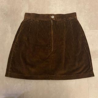 ロキエ(Lochie)のフランスヴィンテージ コーデュロイ台形スカート(ミニスカート)