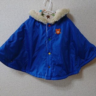 ミキハウス(mikihouse)のミキハウス ホットビスケッツ リバーシブル ポンチョ 防寒アウター 70-90㎝(ジャケット/コート)