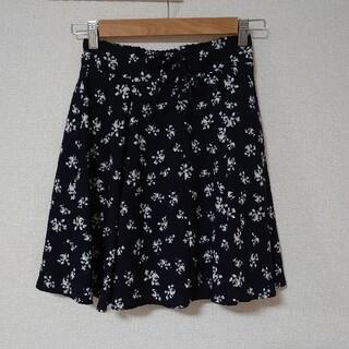 マジェスティックレゴン(MAJESTIC LEGON)のレディース キュロット スカート ショートパンツ 花柄 フラワー ネイビー(キュロット)
