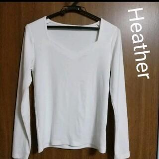 heather - 【Heather】長袖カットソー ホワイト