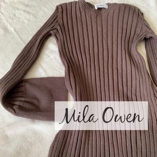 Mila Owen - Mila Owen カフスデザイン ワイドリブニット ニット 長袖