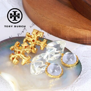 Tory Burch - 【新品☆本物】トリーバーチ ロクサーヌ ダブルドロップピアス