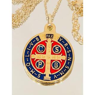 聖ベネディクト メダル ネックレス ●ゴールドカラー(reversible)(ネックレス)
