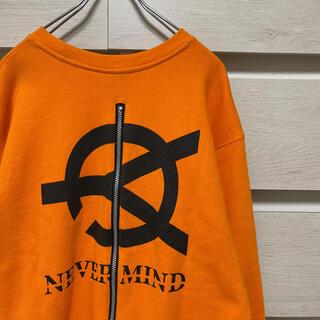 OY バッグプリントジップスウェット 胸ロゴ オレンジ オーワイ