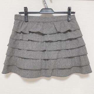 ミッシュマッシュ(MISCH MASCH)のミッシュマッシュ ティアードスカート グレー(ミニスカート)