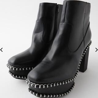 マウジー(moussy)のMOUSSY  WOOD SOLE ブーツ(ブーツ)